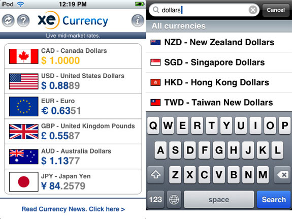 XE-Currency-app