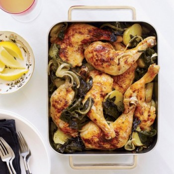 Roasted Chicken with Kale